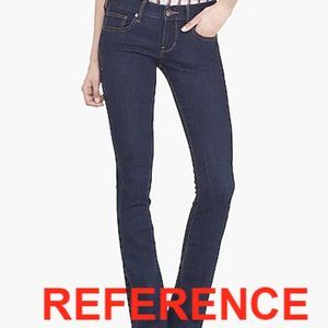 Express Jeans Barely Boot Zelda Ultra Low Rise
